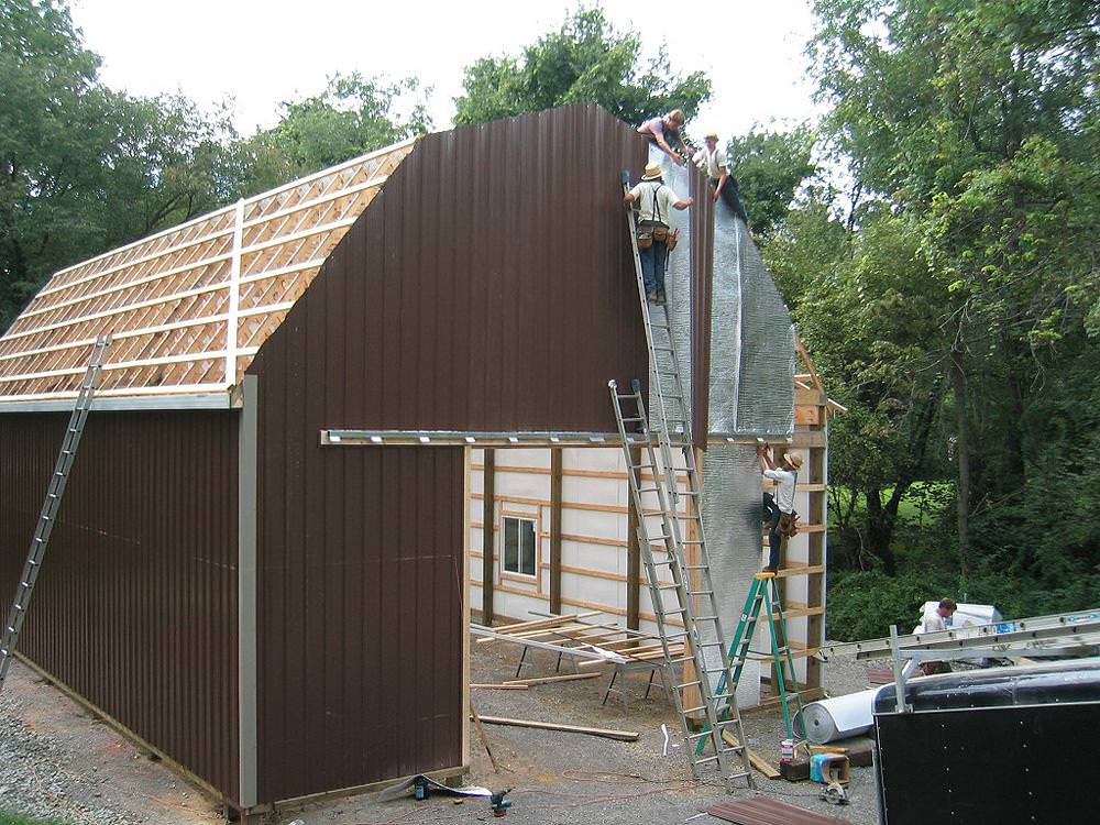 Image of: Latest Gambrel Roof Garage Kits