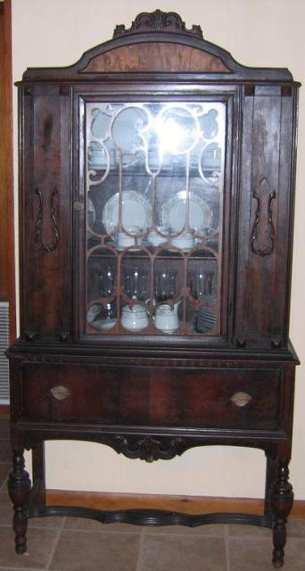 Image of: General antique china cabinet