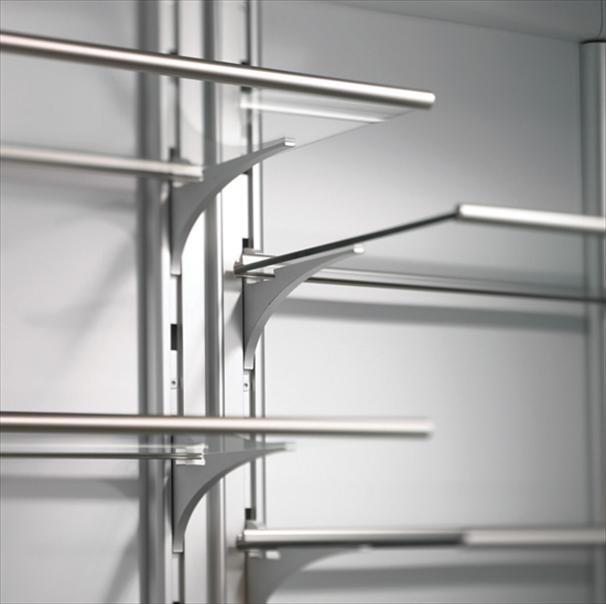 Image of: Glass Adjustable Shelving