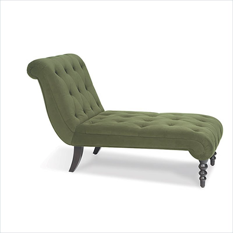 Picture of: Green chaise lounge chair