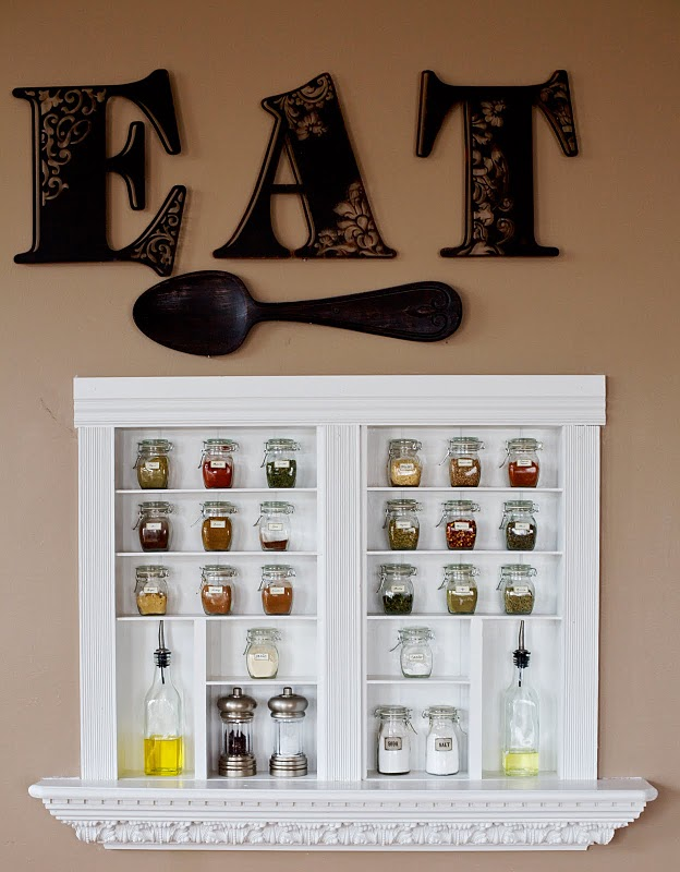 Image of: Ideas Wall Spice Rack