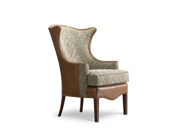 Image of: Leathercraft Furniture wing chair
