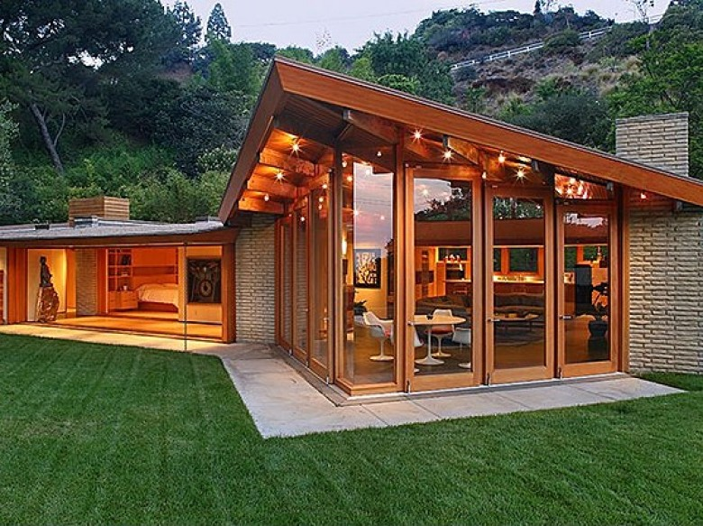 Image of: Mid Century Modern Homes design elegant glass