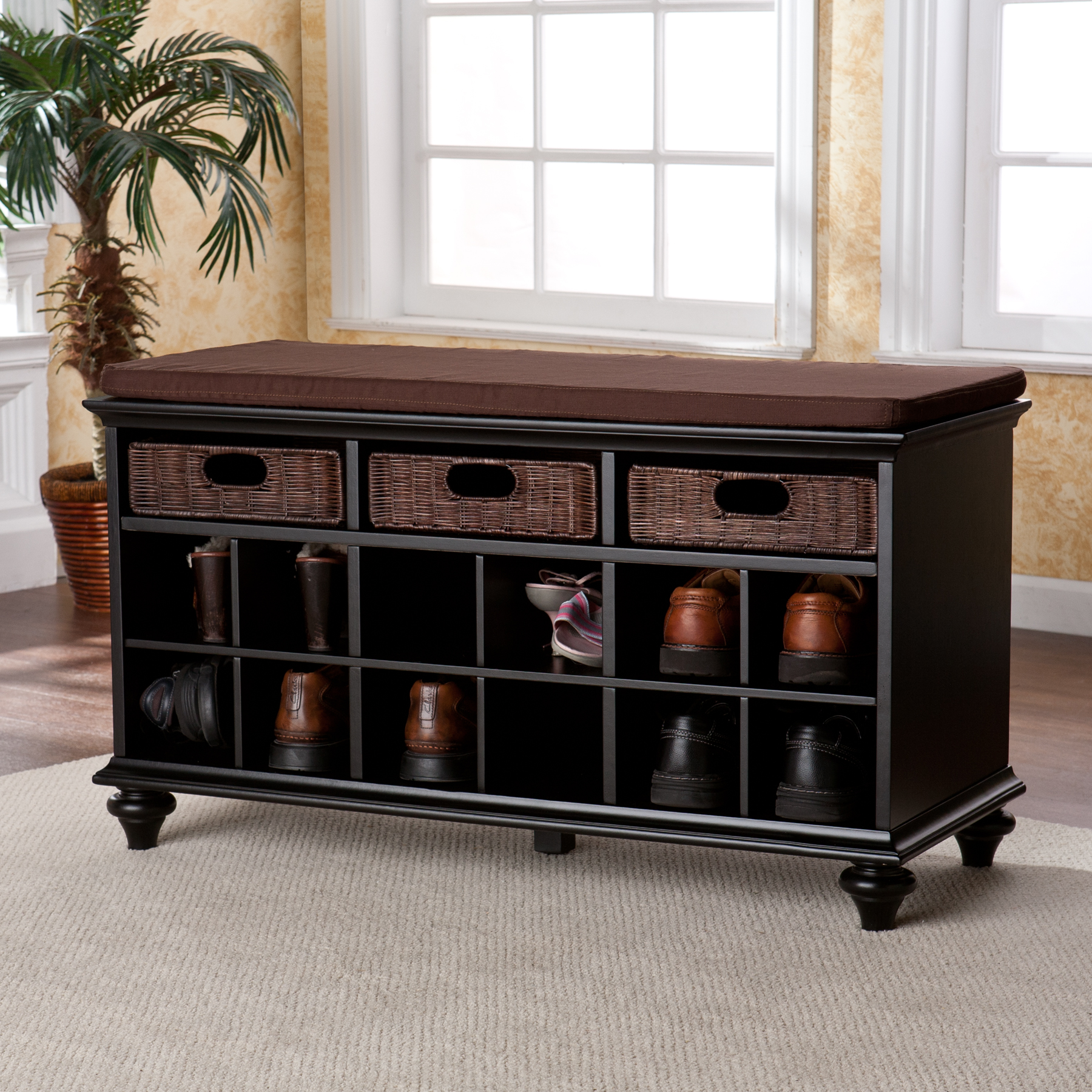 Image of: New Shoe Storage Bench