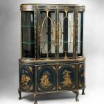 Open Antique China Cabinet