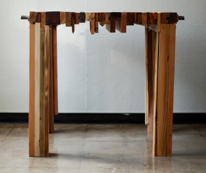 Image of: Reclaimed wood furniture design