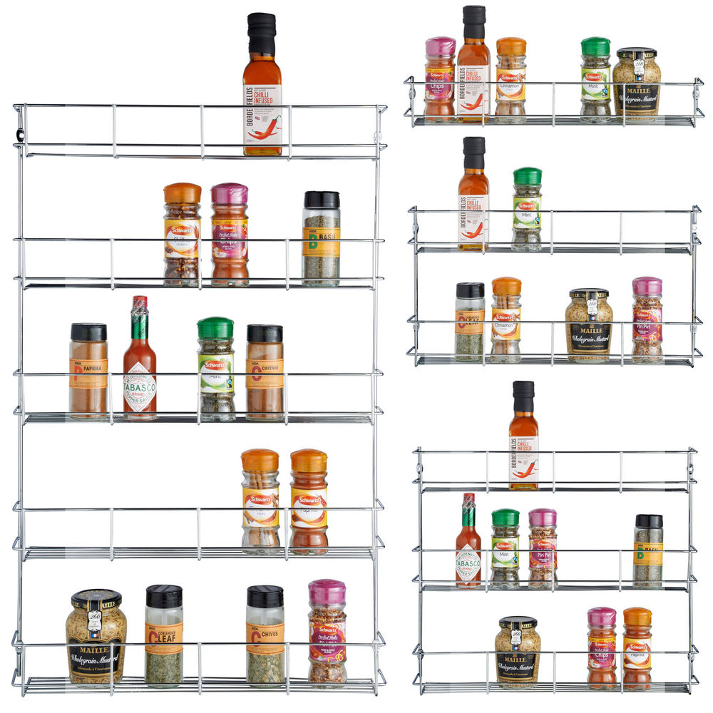 Image of: Wall Mount Spice Rack Ideas
