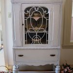White antique china cabinet