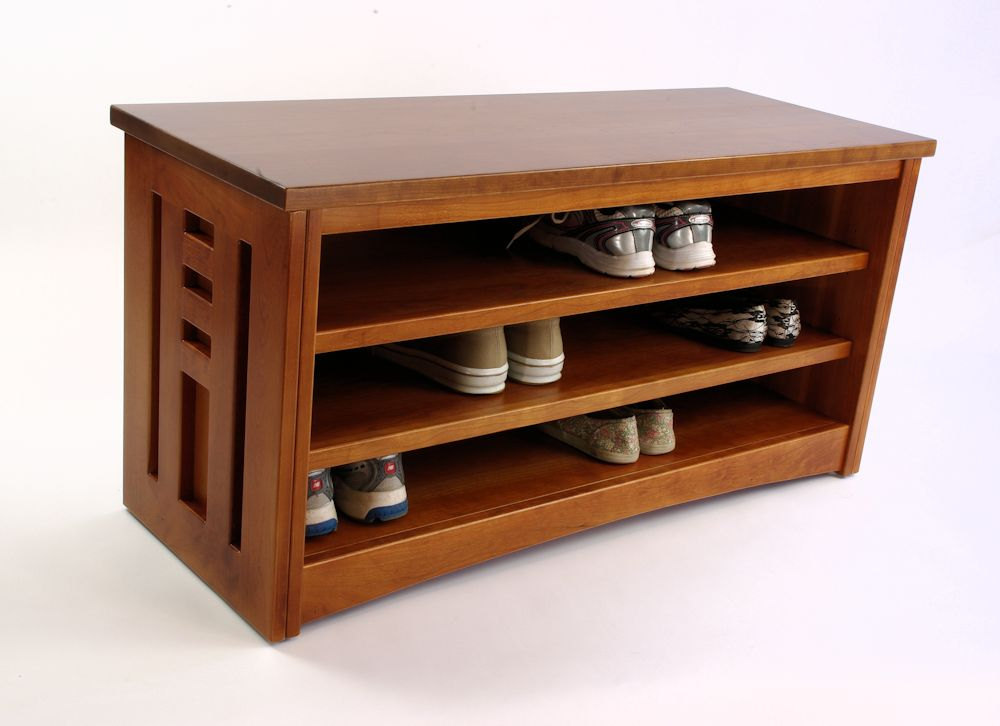 Image of: Wood Shoe Storage Bench