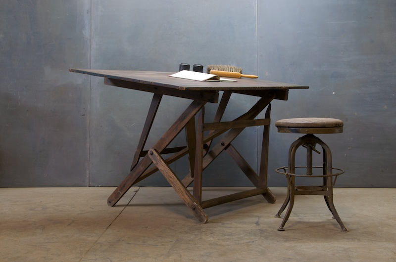 Image of: antique drafting table dining table