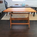 Antique Drafting Table Truned Dining Table