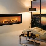 awesome modern gas fireplace