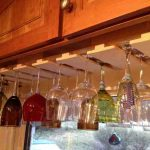 awesome under cabinet wine glass rack