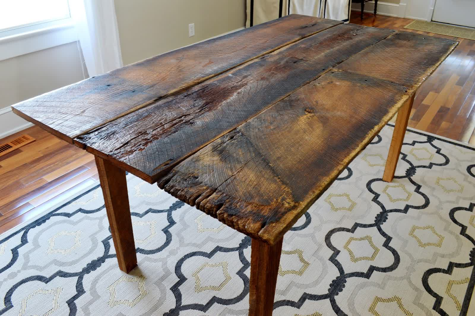 Image of: design farmhouse dining room tables