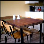 diy antique drafting table turned dining table