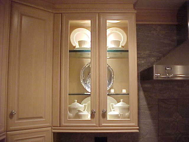 Image of: elegant glass cabinet doors