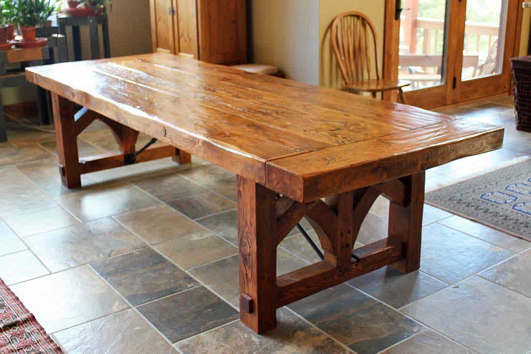 Image of: farmhouse dining table