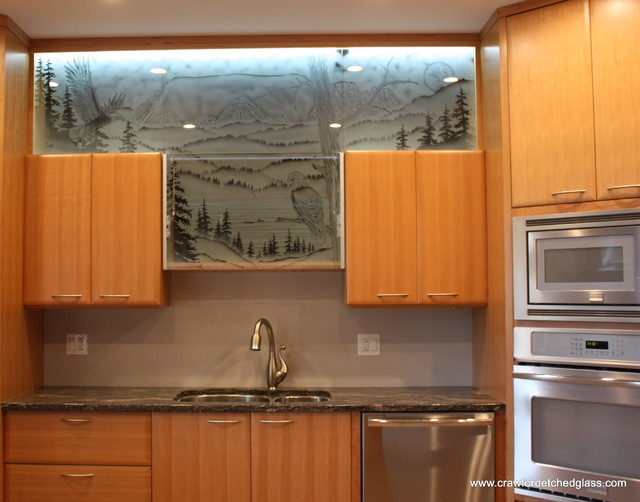 Image of: glass cabinet doors in style