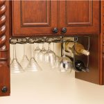 ideas of under cabinet wine glass rack