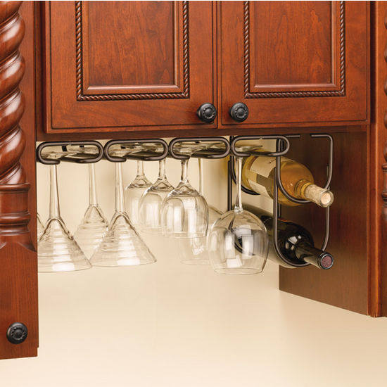 Picture of: ideas of under cabinet wine glass rack