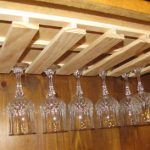 images of under cabinet wine glass rack