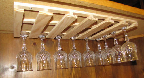 Picture of: images of under cabinet wine glass rack