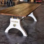 industrial cofee table from antique drafting table