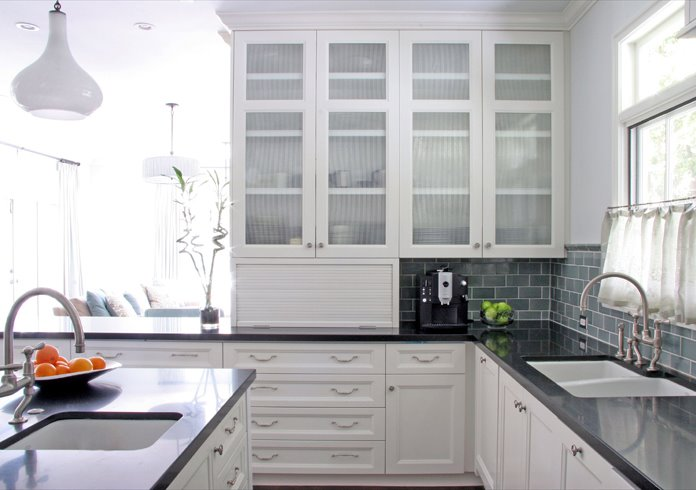 Image of: kitchen glass cabinet doors