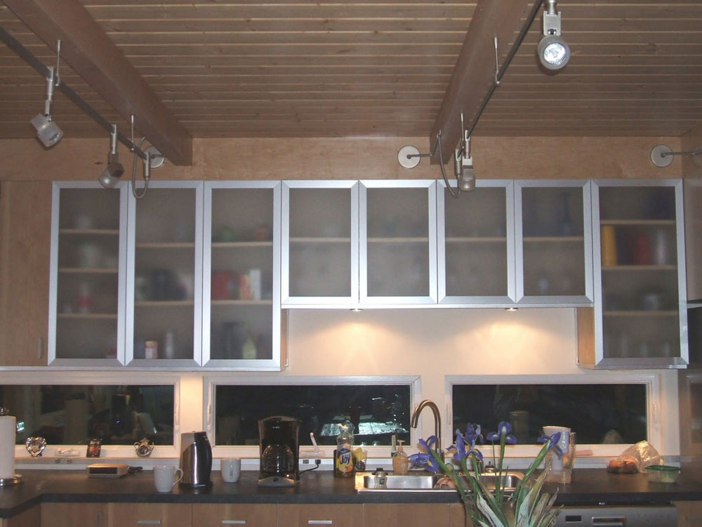 Image of: large glass cabinet doors