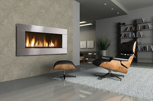 Modern Gas Fireplace Image