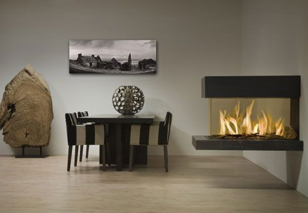 Modern Gas Fireplace Picture