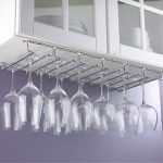 under cabinet wine glass rack design