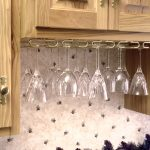 under cabinet wine glass rack ideas