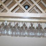 under cabinet wine glass rack images