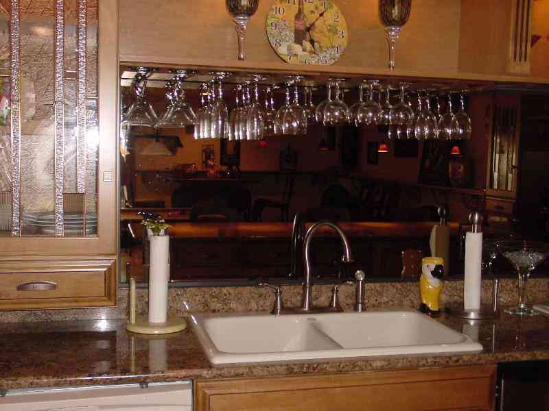 Image of: under cabinet wine glass rack photos