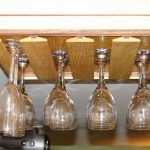 under cabinet wine glass rack pictures