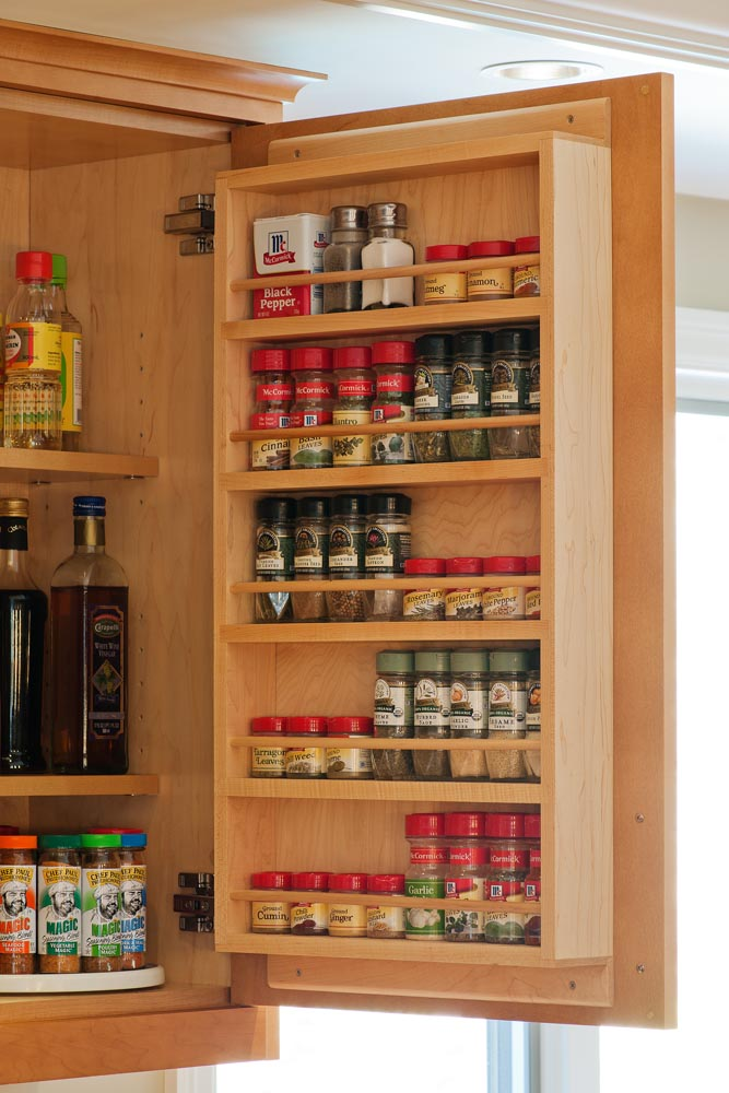 Image of: Big wall spice rack ideas