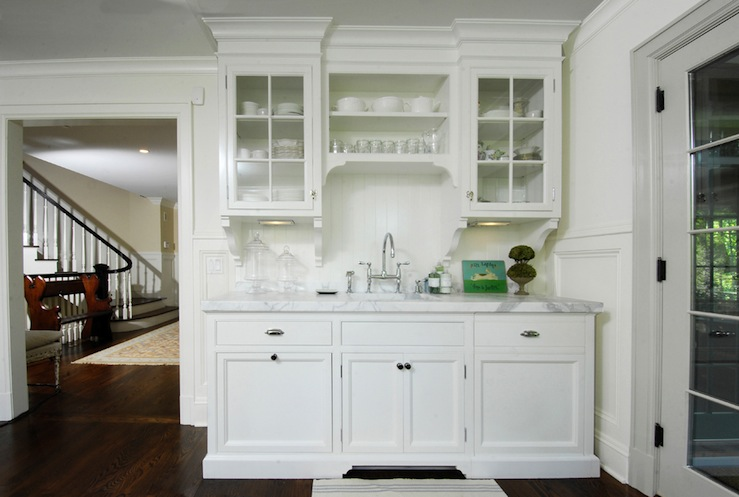 Image of: white glass cabinet doors