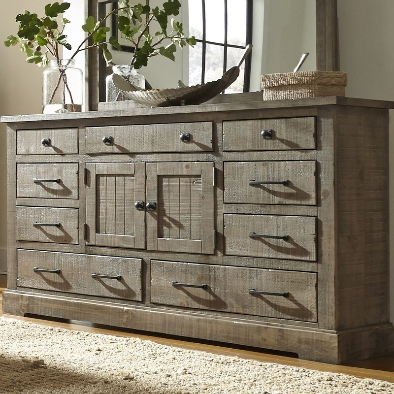 12 Drawer Triple Dresser