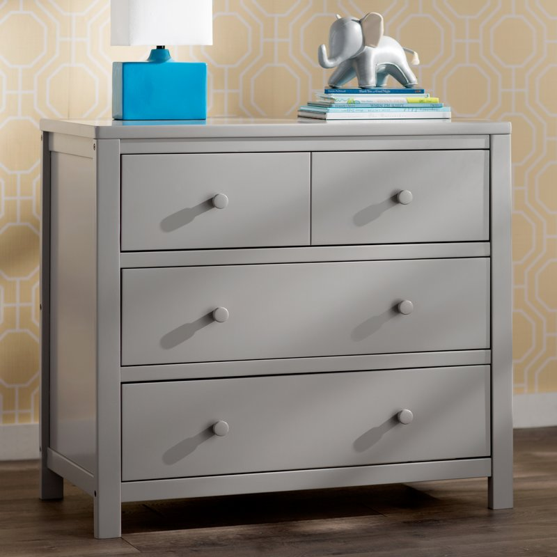 Picture of: 3 Drawer Dresser Gray