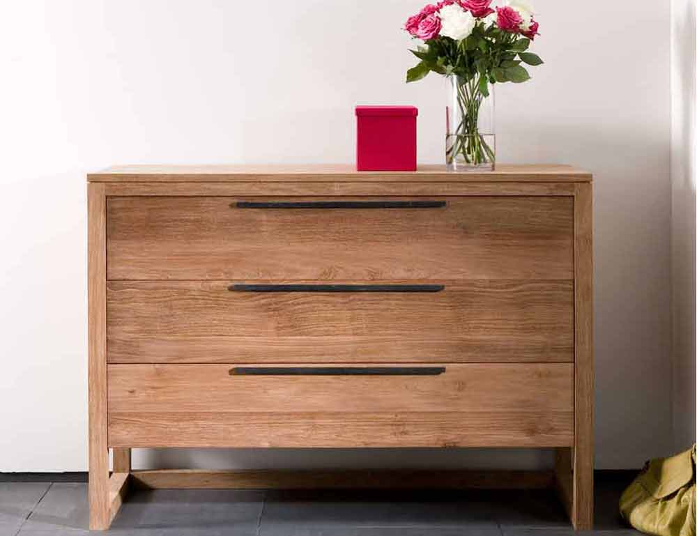 3 Drawers Unfinished Oak Furniture Store
