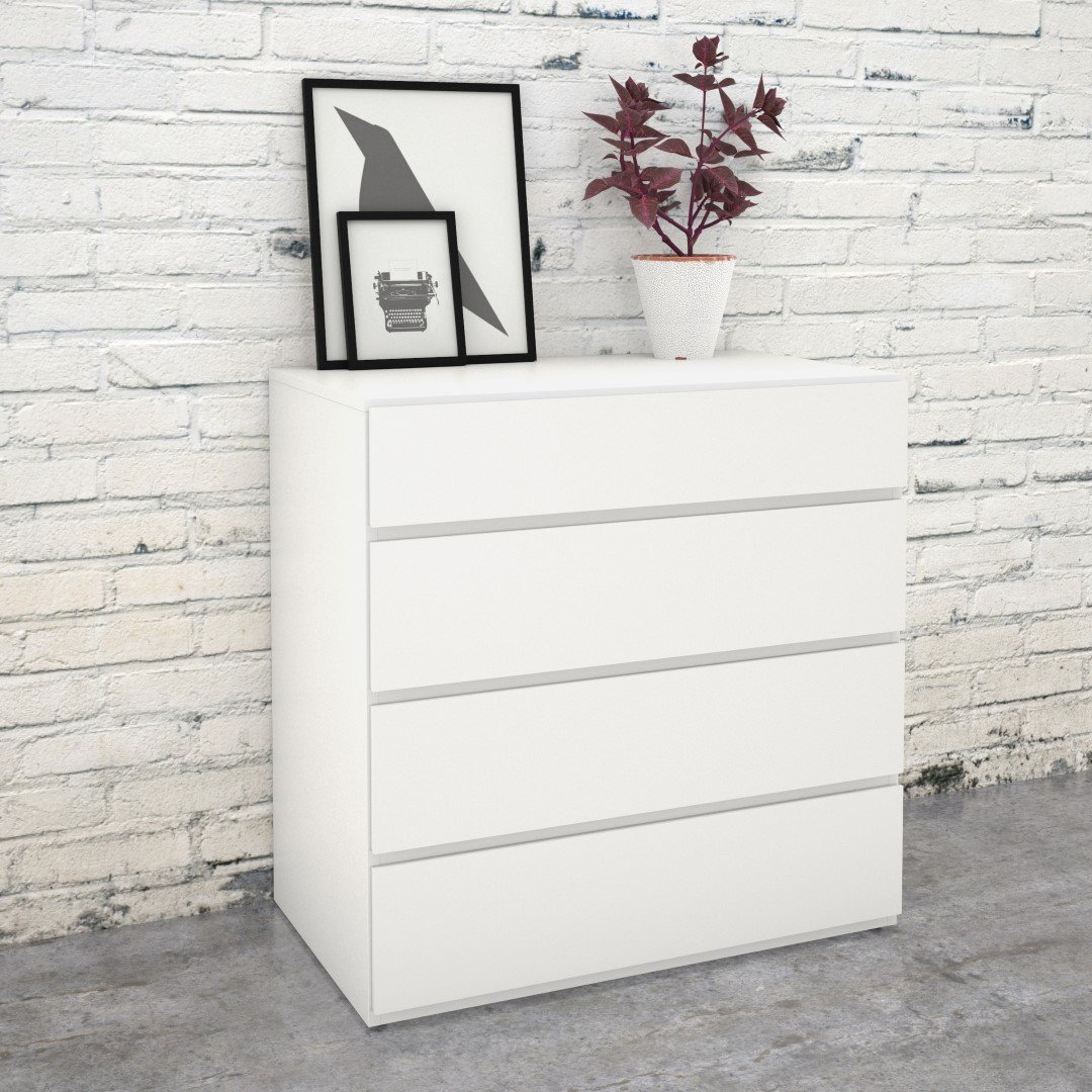 Picture of: 4 Drawer Dresser White