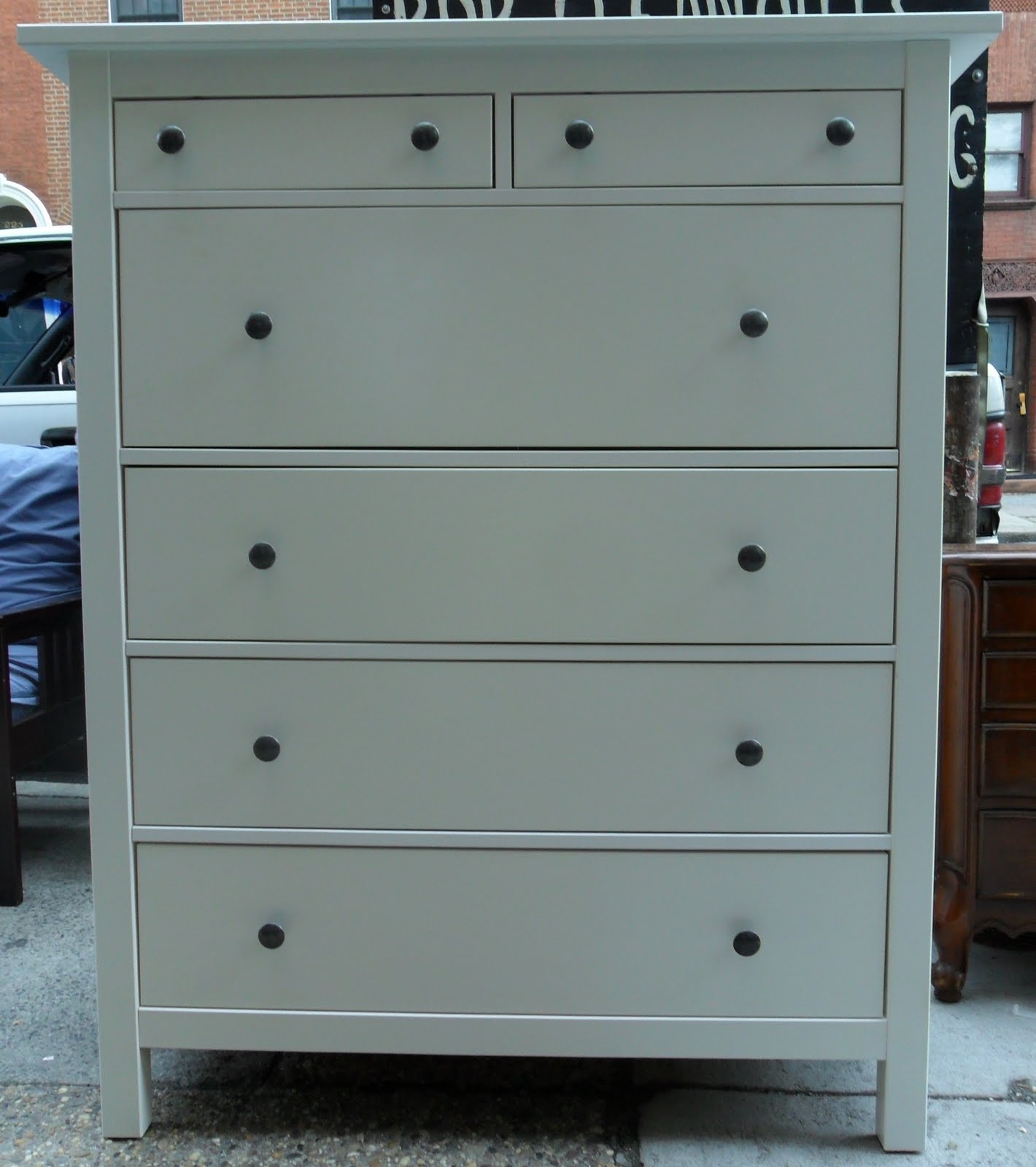 Image of: 5 Drawer Dresser Unfinished