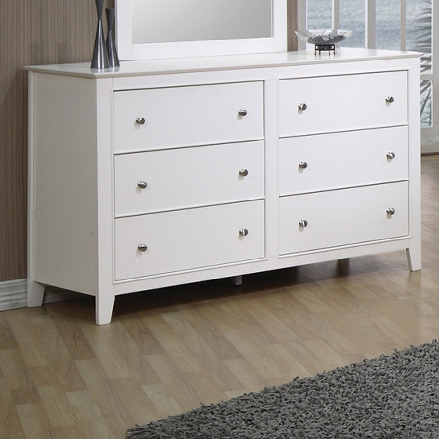 Image of: 6 Drawer Chest White Gloss