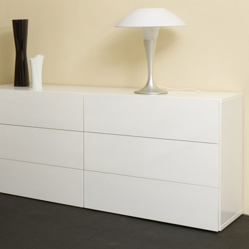 Image of: 6 Drawer Double Dresser White