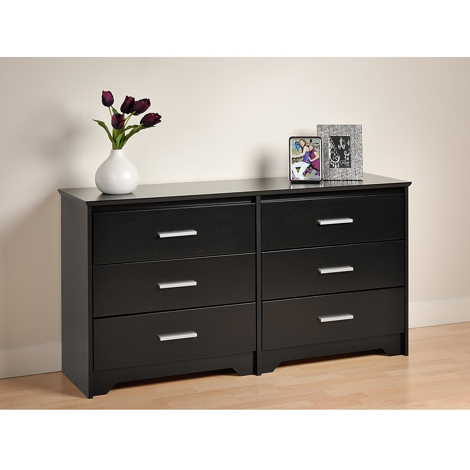 Picture of: 6 Drawer Dresser Black Color