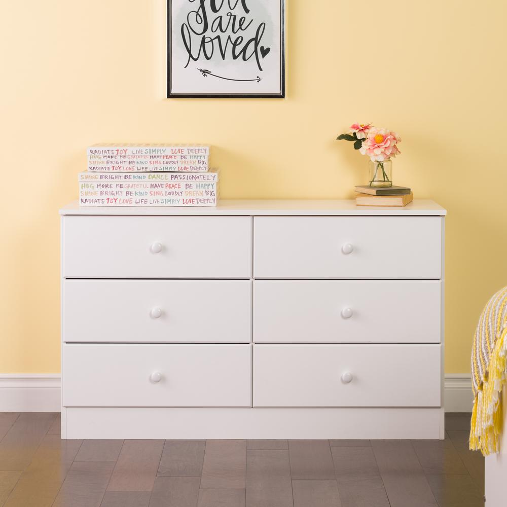 Picture of: 6 Drawer Dresser Prepac White