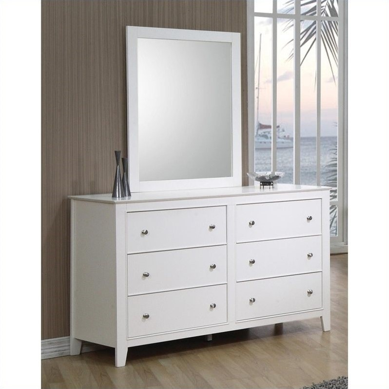 Picture of: 6 Drawer Dressers Clean with Mirror