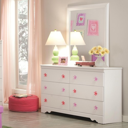 Picture of: 6 Drawer Dressers Furniture with Mirror