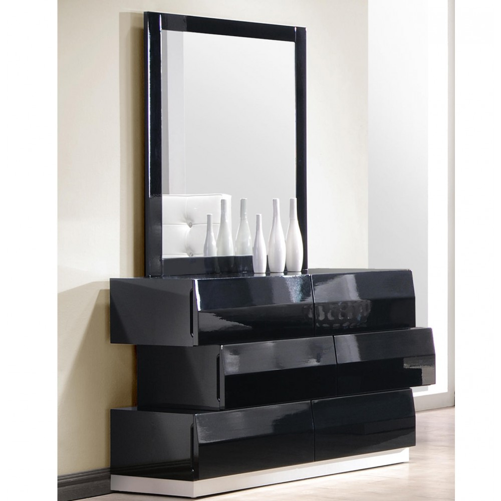 Picture of: 6 Drawer Dressers Modern with Mirror
